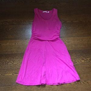 Athleta Katniss Sleeveless Tank Dress Hot Pink S
